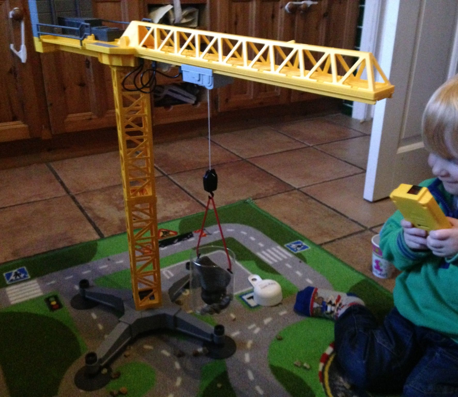 Playmobil crane the best toy for a construction crazy 3 yr old