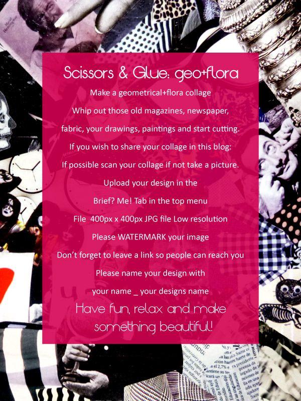 New creative brief! Scissors and Glue: geo+ flora | Anchobee Blog http://anchobee.com/blog/scissors-and-glue-geo-flora/ briefs to inspire! Please SHARE! #design #art