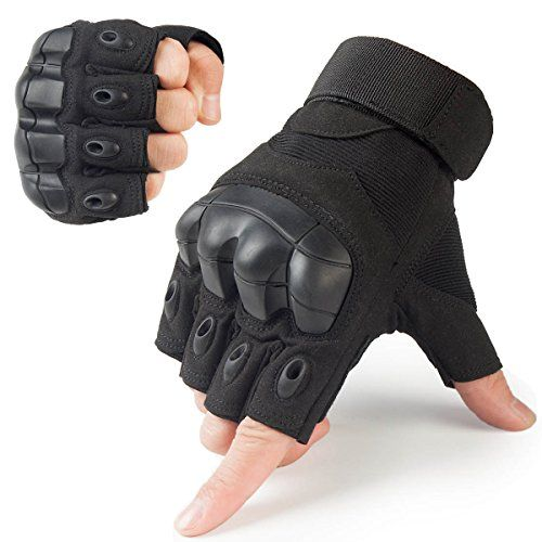 Half Finger Gloves Army Military Hard Knuckle Tactical Men/'s Athletic