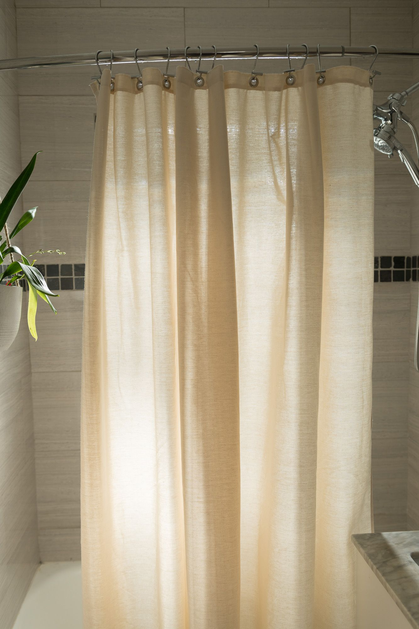 Organic White Cotton Shower Curtain Bath Tub Stall Sizes