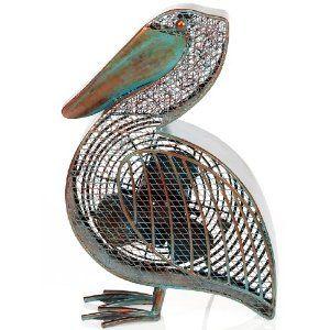 Very Cool Cast Metal Pelican Decorative Fan 80 Fan Decoration Seaside Home Decor Fan
