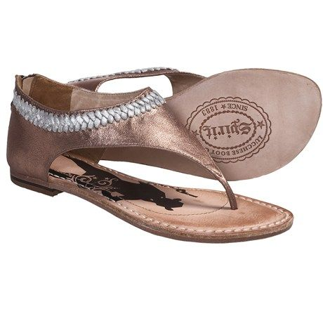Spirit by Lucchese Carly Sandals - Back Zip, Leather CUTE!!!