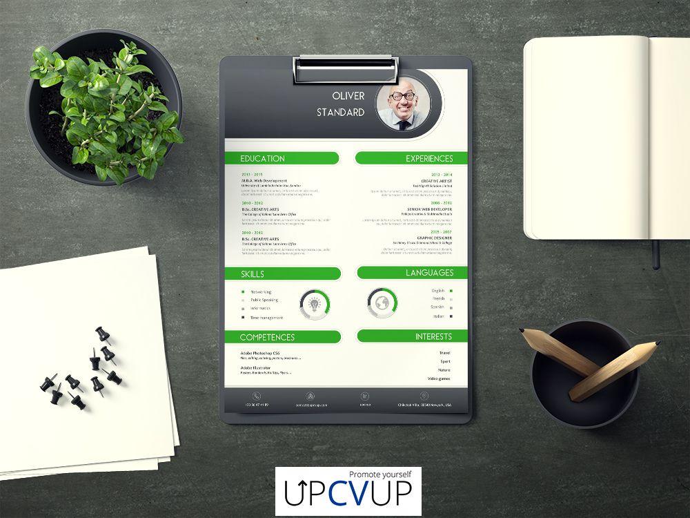 Curriculum Vitae Vert | Exemple cv, Cv moderne, Curriculum ...