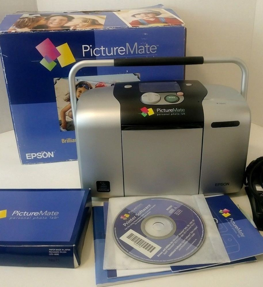 Epson Picturemate Personal Photo Lab Printer With Paper And Usb
