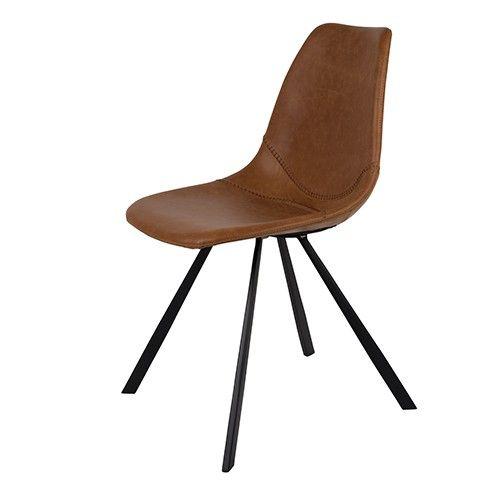 Dutchbone stoel Franky heeft decoratieve, baseball