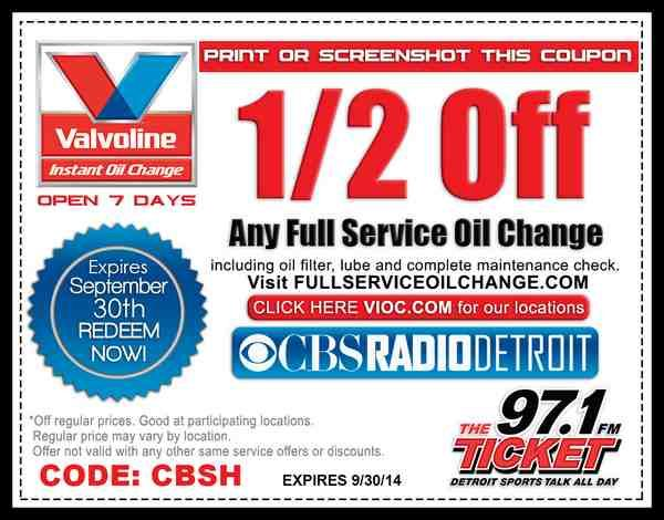 image regarding Valvoline Instant Oil Change Coupons Printable titled Coupon For Valvoline Oil Variation My Nup My Nup Oil