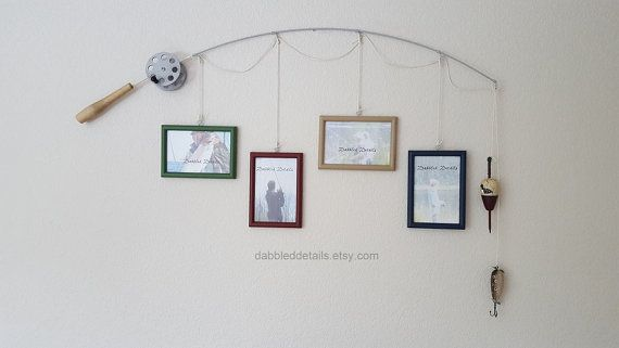 Fishing Pole Picture Frame - Silver or Brown Pole - 4 - 4 in x 6 in ...