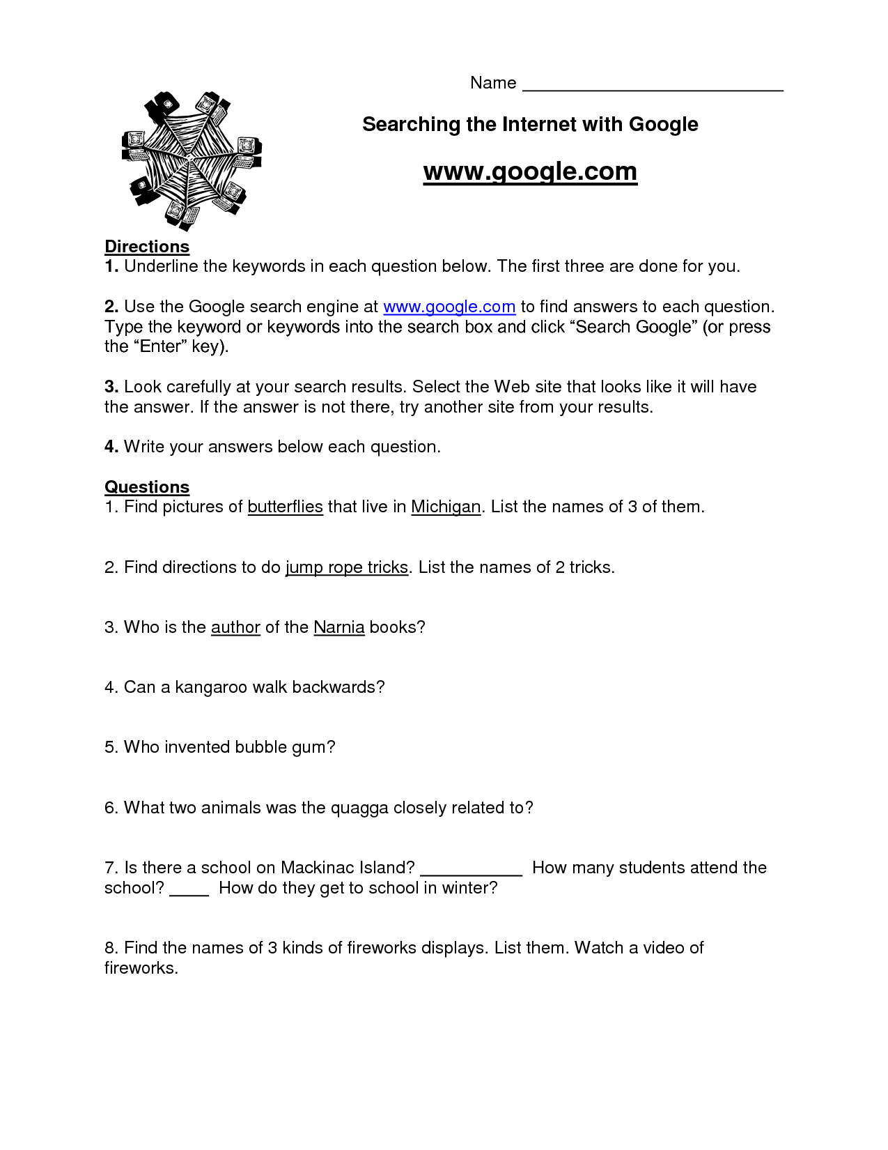 Teaching Worksheets For 4th Graders