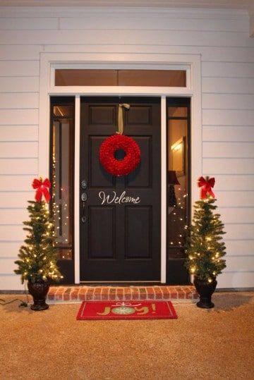 Linda decoracion navideña exterior para ventanas y puertas - decoracion navidea para exteriores de casas