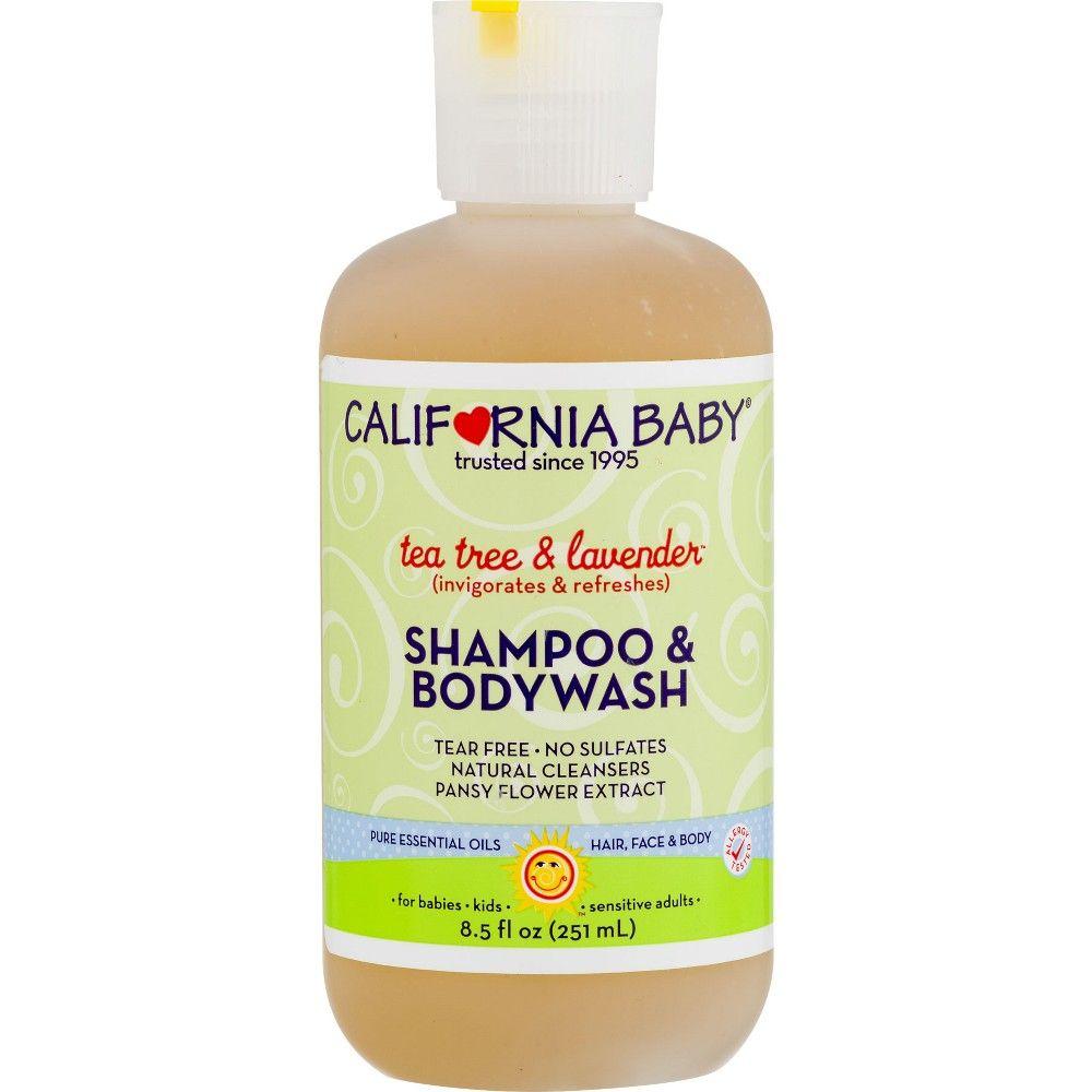 California Baby Tea Tree Lavender Shampoo Bodywash 8 5 Oz