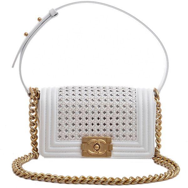 5386ebdecbe03f Chanel White Braided Reverso Boy Flap Bag Gold Hardware | Handbags ...