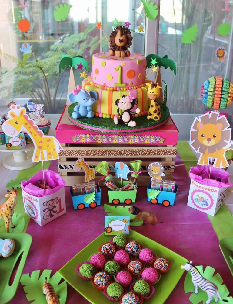 Baby Jungle Animals Birthday Party Ideas Animal Birthday