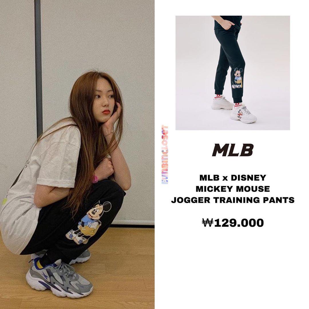 Eunbincloset đa đăng Len Trang Ca Nhan Instagram Của Minh Instagram Update Eunbin Is Wearing Pants From Mlbkorea X Disney In 2020 Kpop Fashion Fashion Joggers