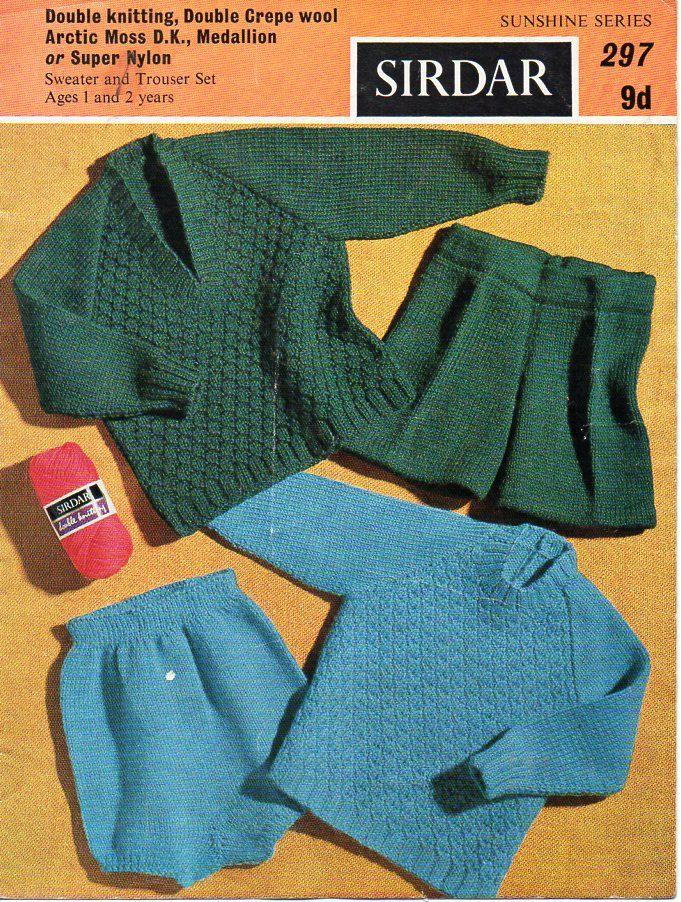 baby boys DK sweater shorts set knitting pattern PDF baby jumper ...