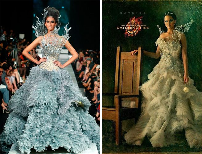 Tex Saverio Revealed As Designer Of Katniss Everdeen Portrait Gown Game Dresses Hunger Games Costume Hunger Games Fashion