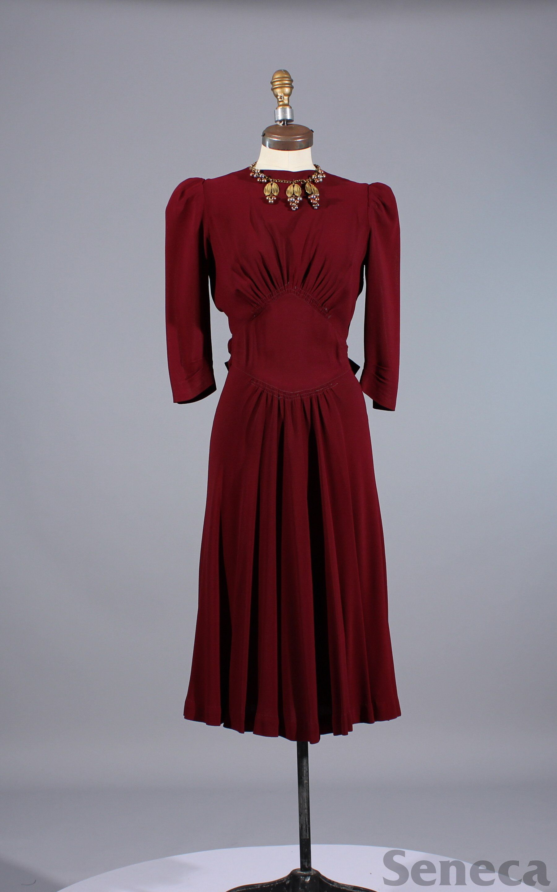 1930s Dress With Attached Jewellry 1940s Fashion Dresses Vintage Fashion 1930s Romantic Dresses Vintage [ 2879 x 1800 Pixel ]