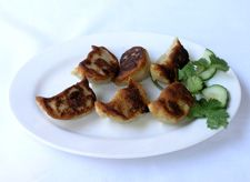 Pan Fried Chicken Dumplings by KungPao China Bistro in Sherman Oaks, CA