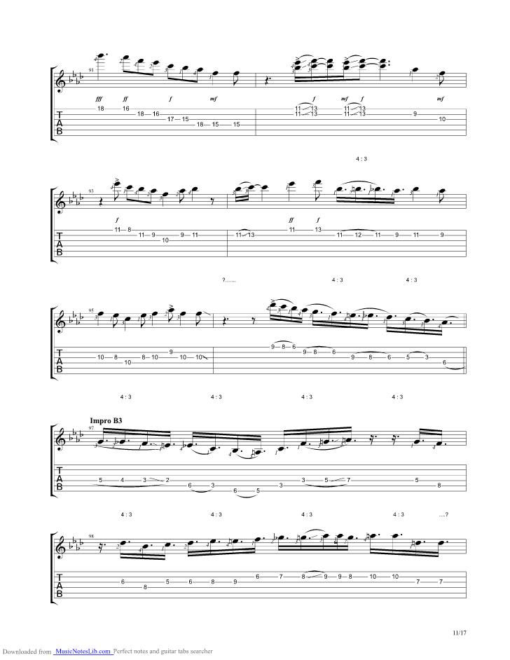 Lyric midnight blues lyrics : Midnight Blue guitar pro tab by Kenny Burrell @ musicnoteslib.com ...