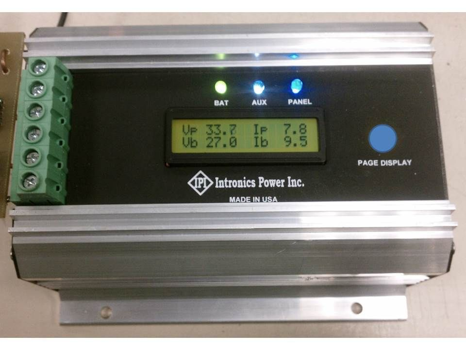 Solar Battery Charger Controller 12 24 36 48v Intronics Mppt75hv Made In Usa Solar Battery Solar Battery Charger Battery Charger