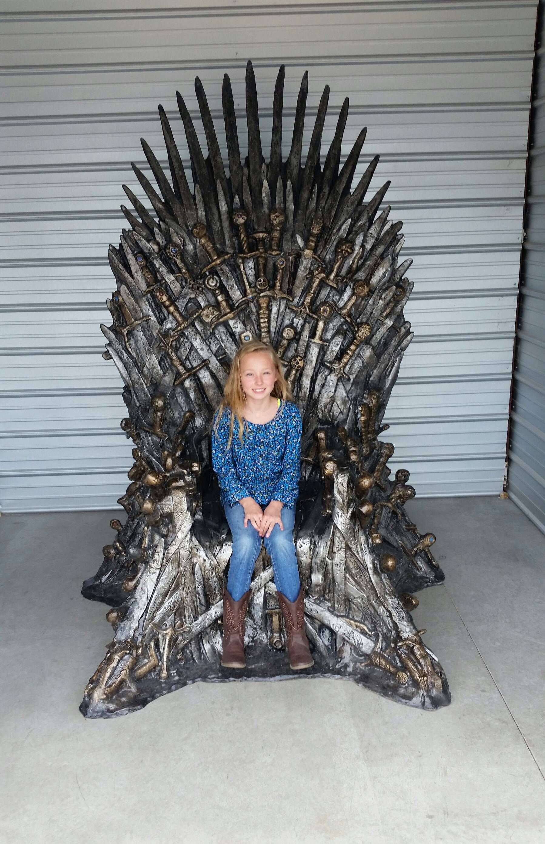 Life size replica of the iron throne imgur movies tv for Buy iron throne chair
