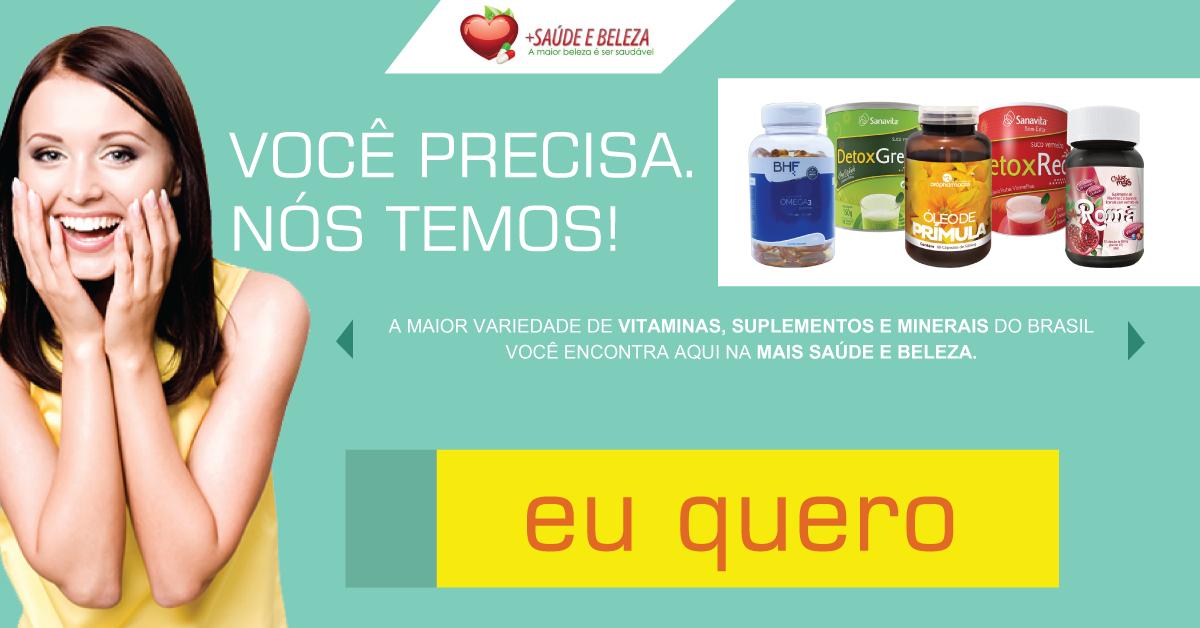 Vitaminas, suplementos e minerais!  A maior variedade de vitaminas e suplementos do Brasil você encontra aqui na Mais Saúde e Beleza.  Você precisa nós temos! http://www.maissaudeebeleza.com.br/d/14/suplementos-e-vitaminas?utm_source=pinterest&utm_medium=link&utm_campaign=vitaminas&utm_content=post