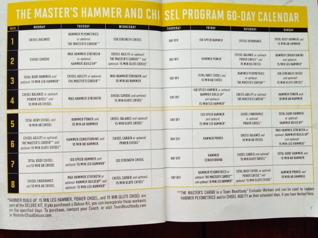 Master Hammer And Chisel Calendar Download | Workout, Workout ...