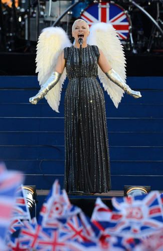 British singer-songwriter Annie Lennox, shown here performing at the Queen's Diamond Jubilee Concert at Buckingham Palace in London in June, is also scheduled to perform during the closing ceremonies. #olympics