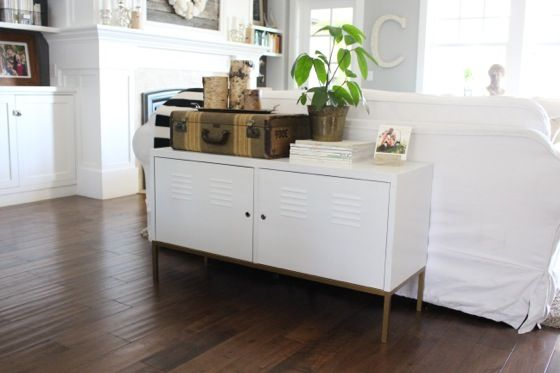 Ikea Locker Credenza : Ikea ps cabinet with the legs spray painted gold. i like it! chez
