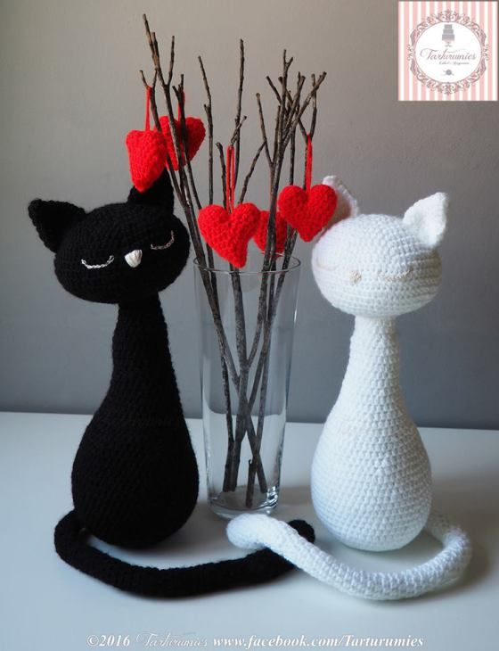 Pareja de gatos amigurumi para el día de los enamorados | Pinterest ...