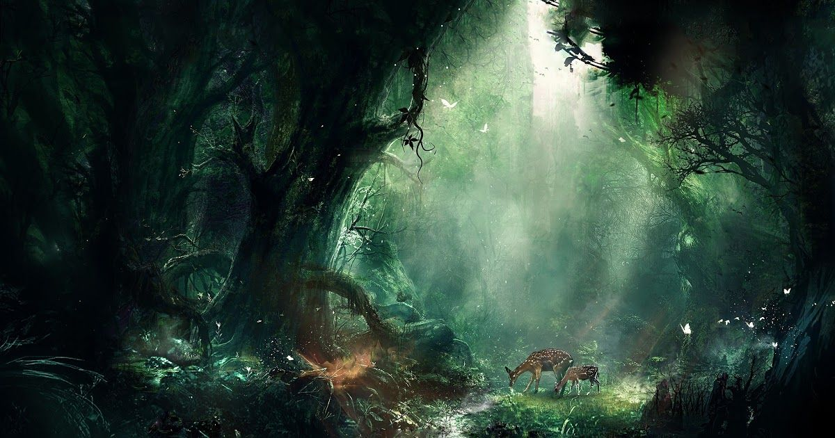 25 Nature Art Wallpapers Fantasy Nature Wallpapers Hd 71 Images Green Nature Artistic Sparks Sunflowers 4500x3 In 2020 Fantasy Forest Nature Art Painting Nature Art