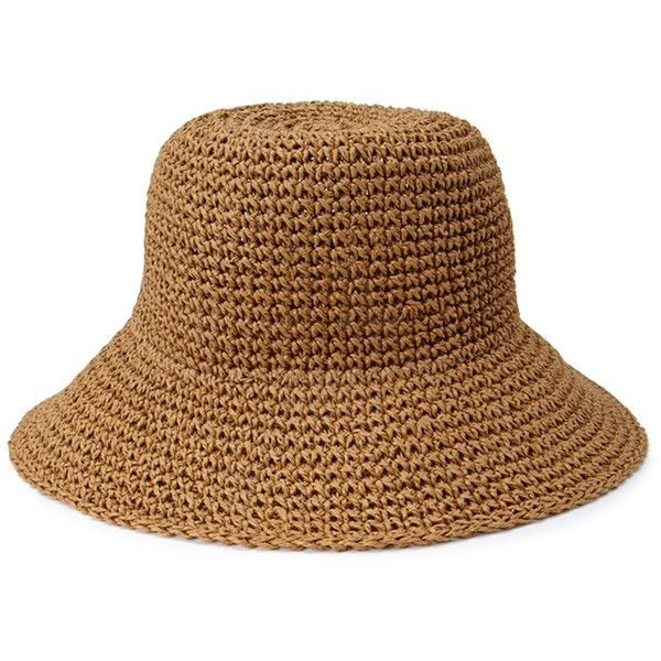 e5c068d03a4 Forever 21 Straw Bucket Hat (23 BRL) ❤ liked on Polyvore featuring  accessories