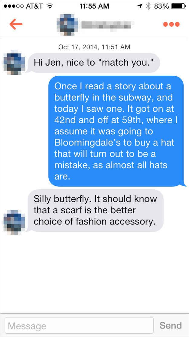 This Guy Shared Kathleens Thoughts On Hats This Is What Happens When You Send Tinder Guys The Emails From Youve Got Mail