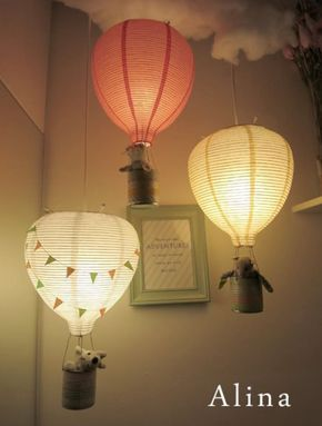 Diy In De Wolken Met Deze Luchtballon Lamp Famme Famme Nl Ballon Lichtjes Lampen Kinderkamer Baby Meisje Kamer