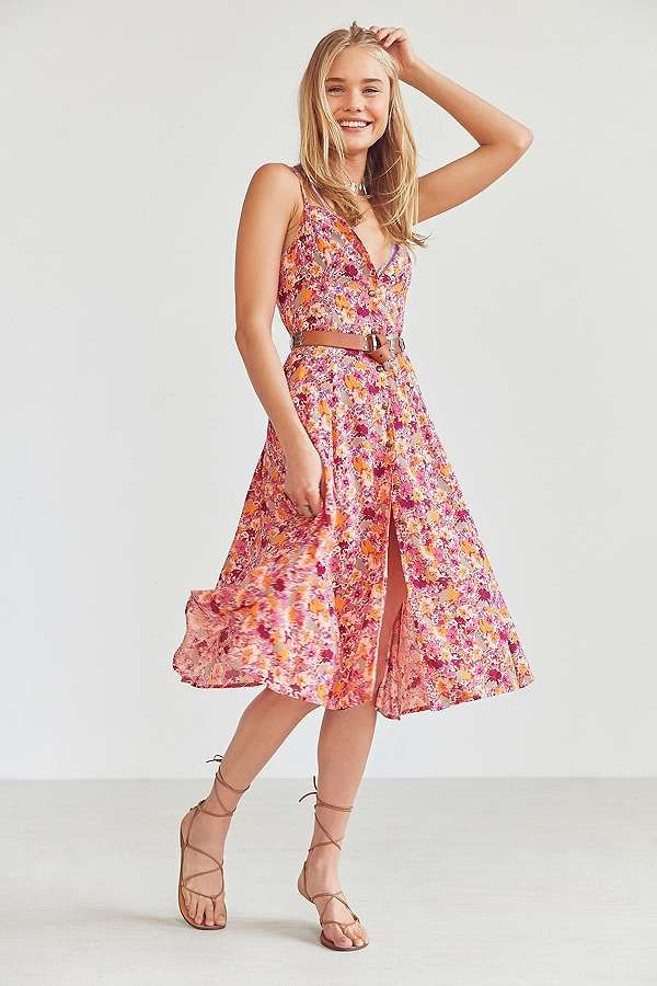Wedding Guest Dresses 2017 The Prettiest High Street Gowns Dresses Floral Midi Dress Day Dresses