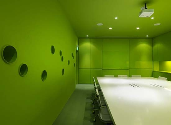 Commercial Interiors Green Room