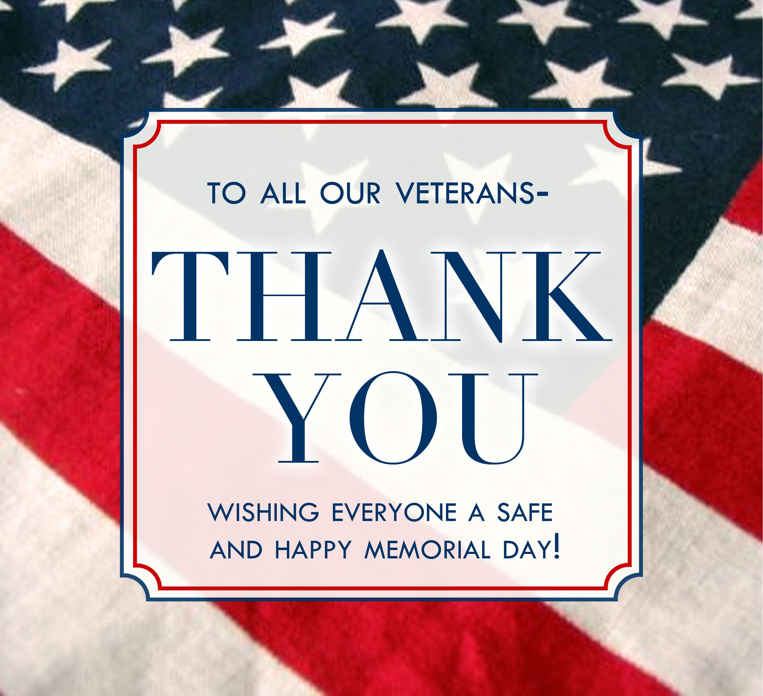 thank all of our veterans for their service, and to