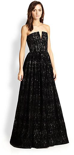 Alice + Olivia Axmis Lace Bustier Gown #Evening #Dresses #Gowns ...