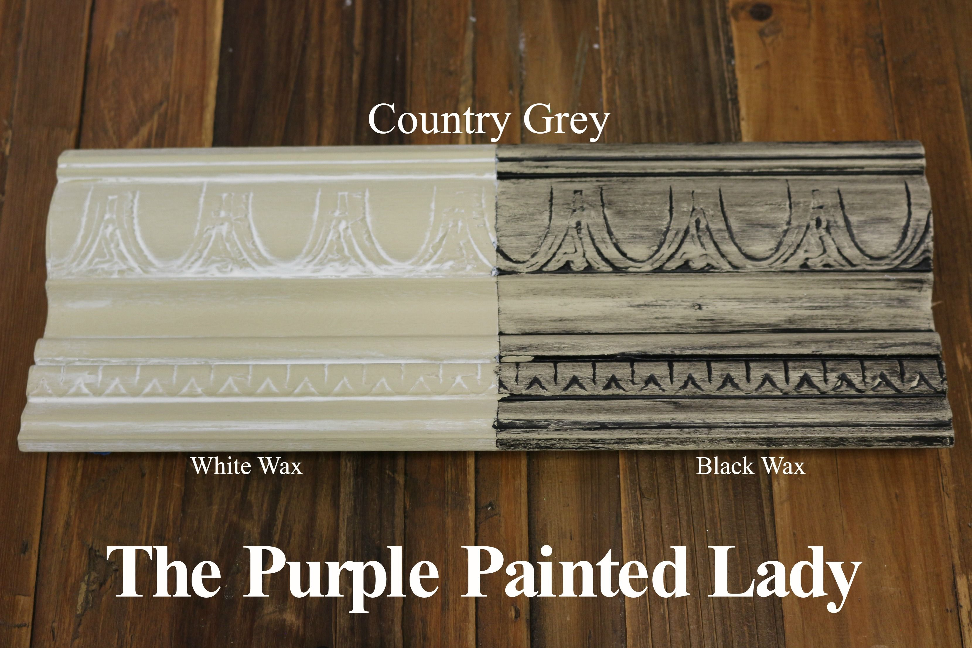 The Purple Painted Lady Two Coats Of Country Grey Chalk