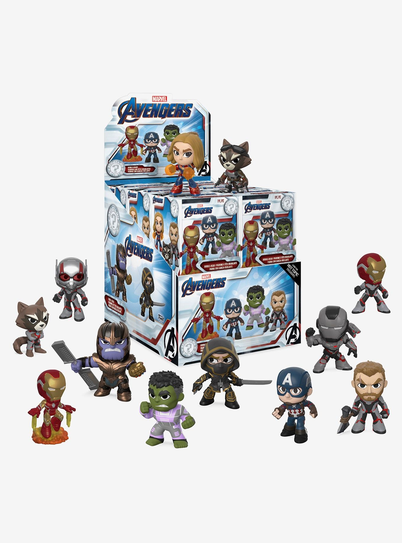 Funko Guardians of the Galaxy Mystery Mini figure Blind Box 12 pc Display Case