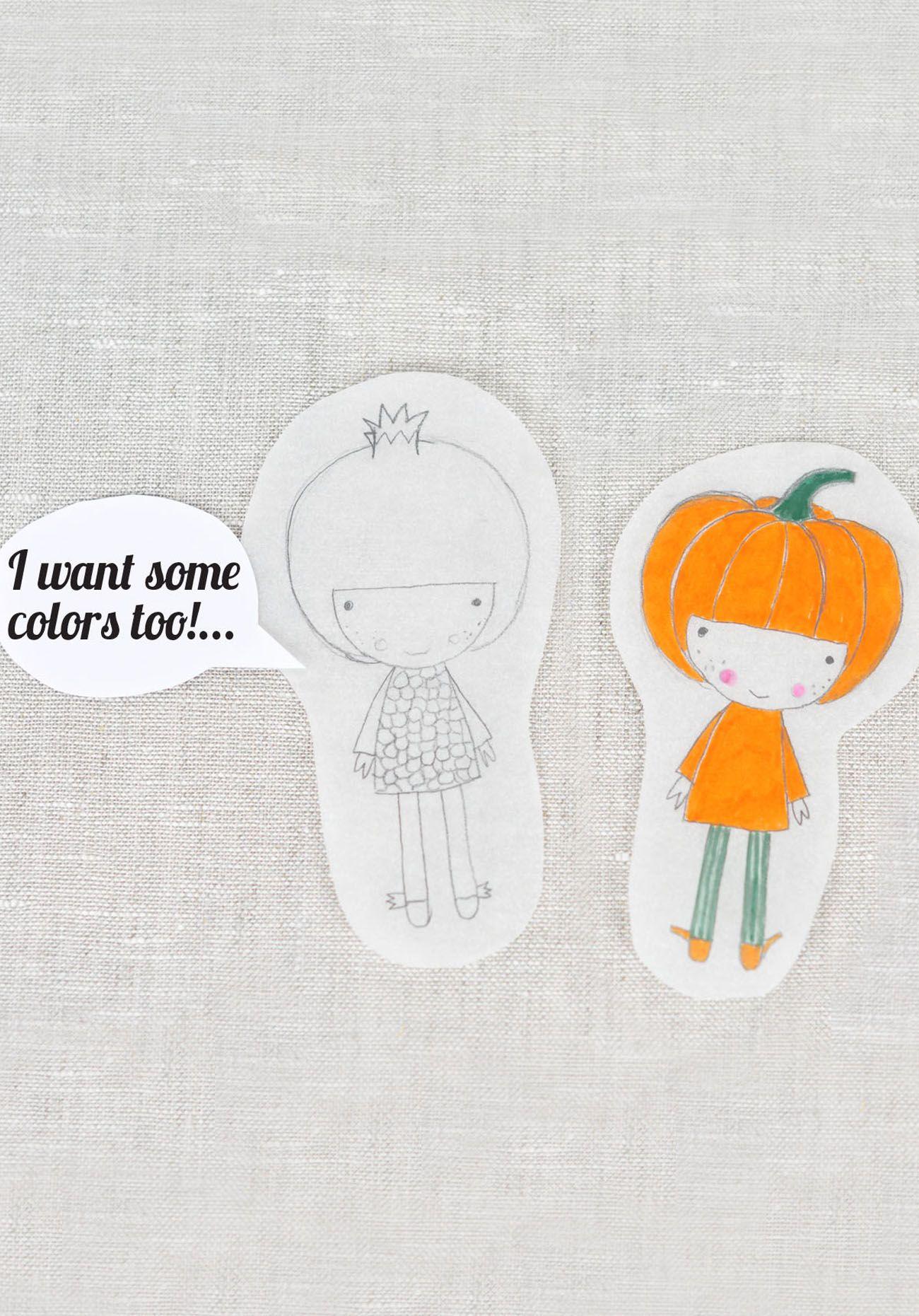 Pomegranate and Pumpkin illustration  - by PinkNounou