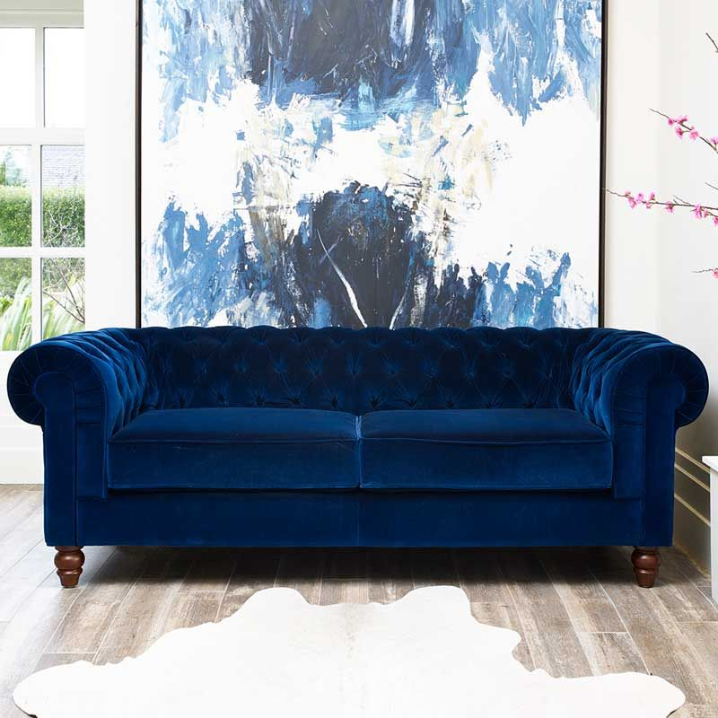 Pin By Jeneen On Home Ideas Wooden Living Room Furniture Blue Sofas Living Room Living Room Sofa Design
