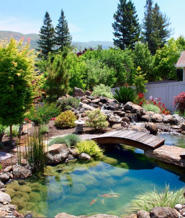 Jardin japonais jardins japonais pinterest japonais for Bassin jardin japonais
