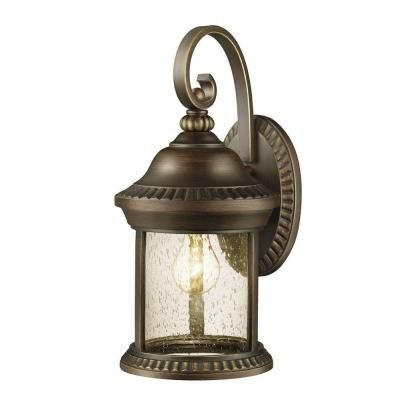 Cambridge Collection 1 Light Outdoor Essex Bronze Large Wall