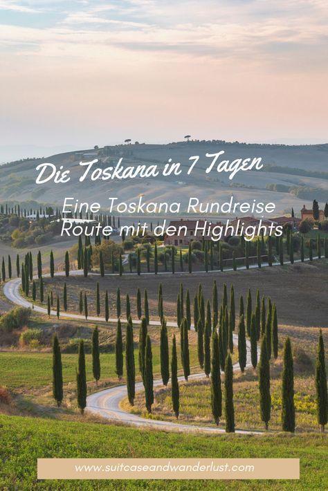 Tuscany round trip route - a Tuscany tour in 7 days -  A Tuscany round trip route with the highlights of the country. 7 days by car through Tuscany – di - #days #florenceitalytravel #italytravel #letstravel #round #route #Tour #travelexperiences #travelmugdiy #Trip #tuscany #ustravelideas