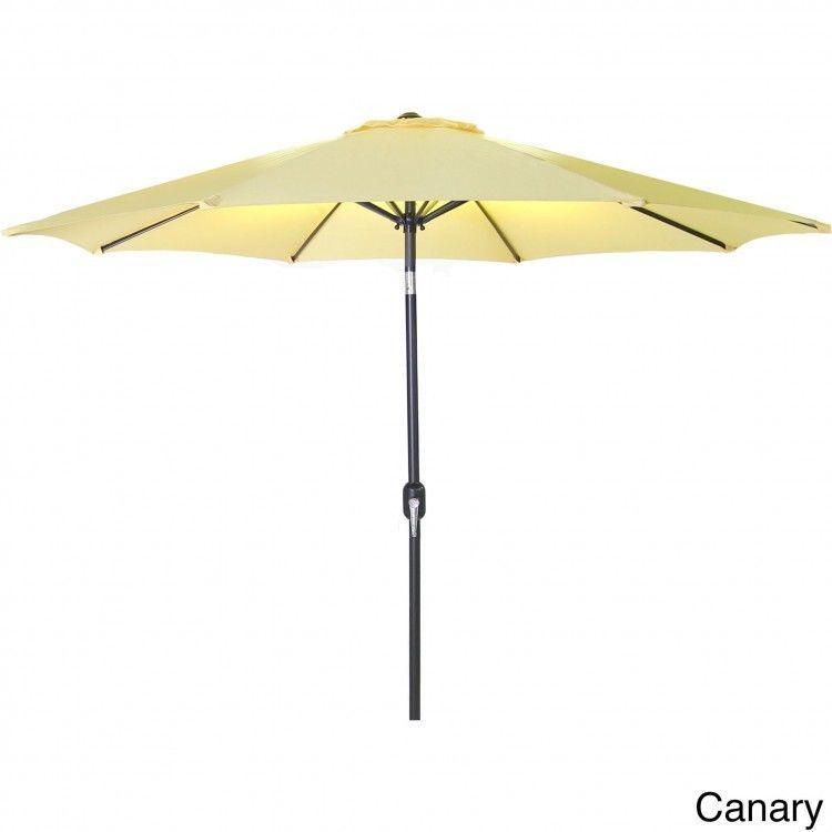 9 foot patio umbrella outdoor deck furniture steel weather