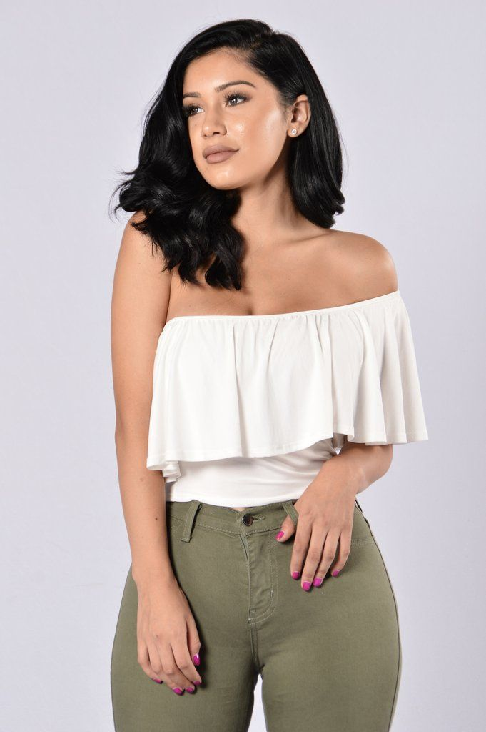Available in Off White and Mauve - One Shoulder - Cropped - Modal Fabric -  Made in USA - 95% Rayon 15cc27779
