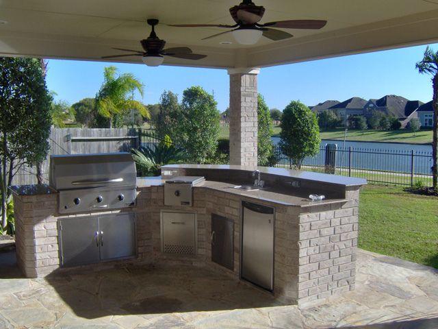 Outdoor Kitchens Houston Katy Cinco Ranch Texas Custom Patios Outdoor Kitchen Patio Backyard Patio