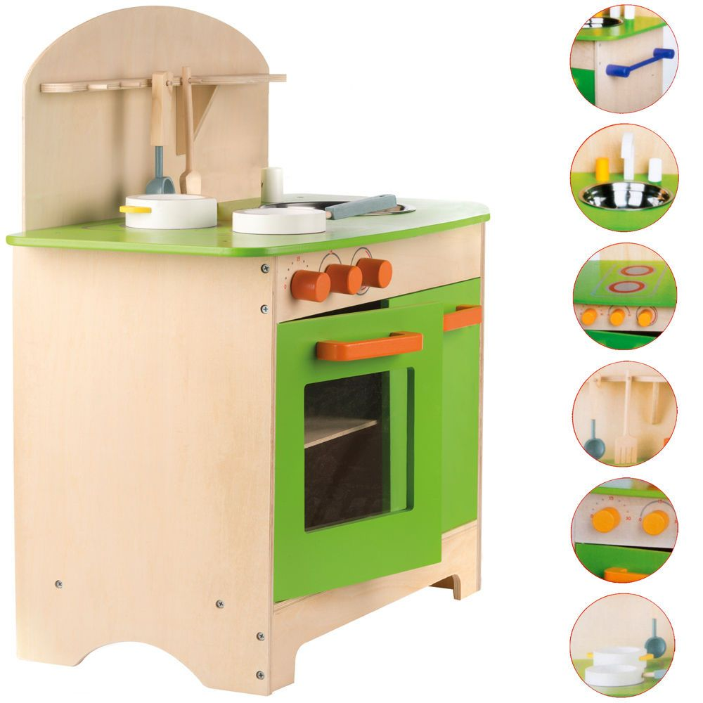 Kinderküche Holz Spielküche Kinderspielküche Spielzeugküche ...
