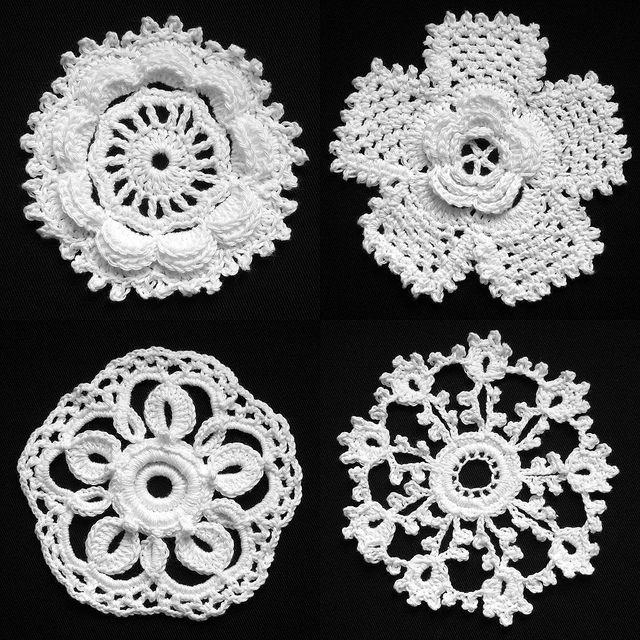 03 Irish Crochet Lace Rose 2 Rose 3 Rose 4 Needlepoint Crochet