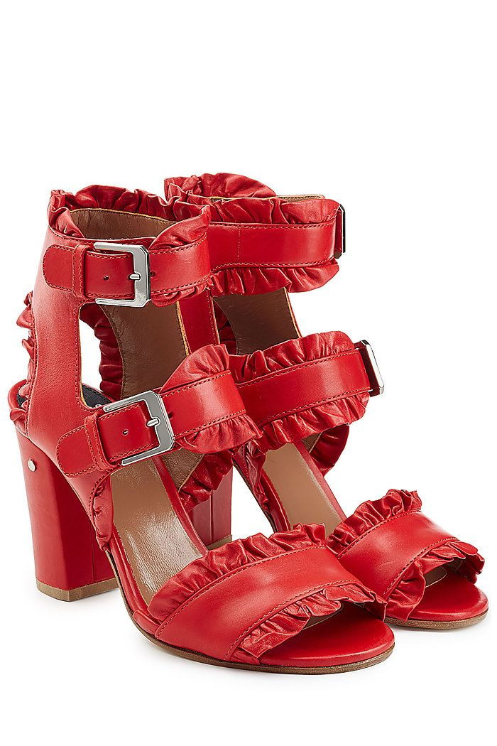 Ruffled Leather Sandals detail 0